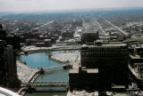 Chicago, view of Chicago River and Merchandise Mart looking west