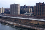 New York, Bronx, view of west side Major Deegan Expressway
