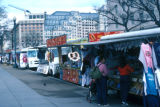 Washington, street vendor trucks parked along city streets