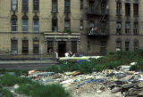 New York, Bronx, view of deteriorated residential area