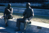 "Washington, view of life-size bronze sculpture ""Chess Players"" by Lloyd Lillie"
