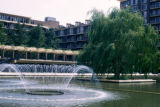 Washington, fountain at Harbour Square residential complex in Southwest Renewal Area