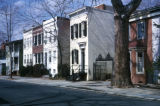 Washington, row houses in Georgetown Historic District