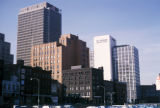 Boston, view of downtown from Atlantic Avenue