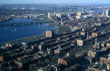 Boston, view of Charles River from Prudential Tower