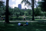 Boston, view of Boston Public Garden