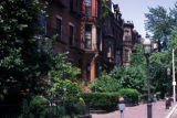 Boston, residential street with row houses