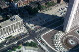 Boston, view of intersection near Colonnade Hotel and Christian Science Center