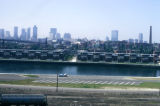 Boston, view of skyline from container terminal