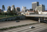 San Diego, view of downtown and freeway