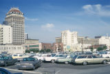 Fresno, Security Bank (Pacific Southwest Building) and parking lot