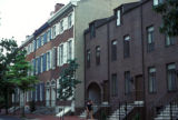 Philadelphia, renovated row houses in Society Hill