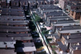 Philadelphia, view of row house rooftops