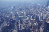 Chicago, view of Merchandise Mart and Wolf Point from Sears Tower
