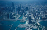 Chicago, view of Streeterville area, The Loop and Chicago River