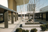 Chicago, suburban Oak Brook, inner courtyard of shopping center