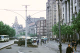 Shanghai, street scene in the Bund with Shanghai Custom House visible