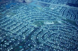 Chicago, suburban Arlington Heights, aerial view of residential neighborhood