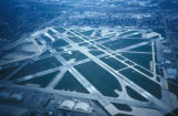 Chicago, aerial view of Midway Airport
