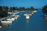 Chicago, suburban Wilmette, boats in Wilmette Harbor