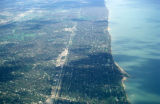 Chicago, suburban Winnetka, aerial view of North Shore suburbs