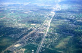 Chicago, suburban Northfield, aerial view of Skokie Valley