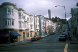 San Francisco, North Beach area, Coit Tower in distance