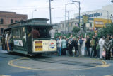 San Francisco, queue at cable car terminal in North Beach