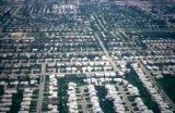 Chicago, aerial view of residential area on the Northwest Side