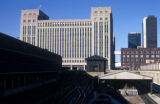 Chicago, US Post Office and railroad tracks