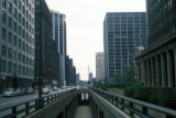 Chicago, view looking south on Wacker Drive