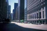 Chicago, looking south on LaSalle Street, with Chicago Board of Trade building in distance