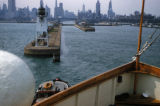 Chicago, view from boat entering Chicago Rivers lock