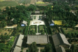 Xian, aerial view of garden and courtyard