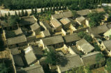 Xian, aerial view of roof tops