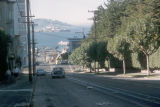 San Francisco, view of steep Hyde Street hill