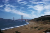 San Francisco, panoramic view of Golden Gate Bridge and coastline