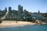 San Francisco, view of beach and Marina District residential area