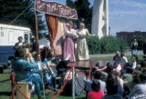 San Francisco, mime troupe performing at Aquatic Park