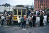 San Francisco, passengers at cable car terminal in North Beach