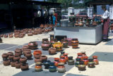 San Diego, display of pottery at shop in Old Town