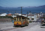 San Francisco, view of California Street with a cable car