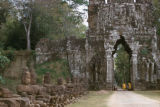 Angkor, South Gate of Angkor Thom along Avenue of Giants