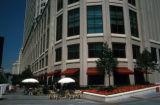 Chicago, patio seating at Sheraton Hotel