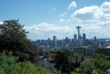 Seattle, view of downtown and Space Needle from Queen Anne Hill
