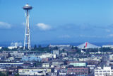 Seattle, view of Space Needle, Seattle Center and Denny Regrade area