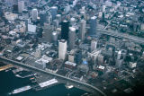Seattle, aerial view of downtown