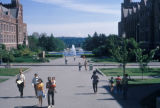 Seattle, Drumheller Fountain and Frosh Pond at University of Washington