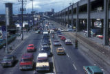 Seattle, vehicles on Alaskan Way next to the viaduct