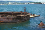 Honolulu, gun turret of sunken battleship USS Arizona